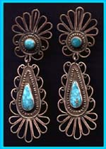 Filigree Earrings by Paco, Taos Lodging, New Mexico USA