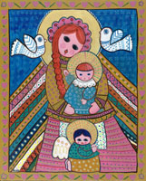 Madonna and Child by Nina, La Doña Luz Inn, Historic Bed and Breakfast lodging in Taos, New Mexico USA